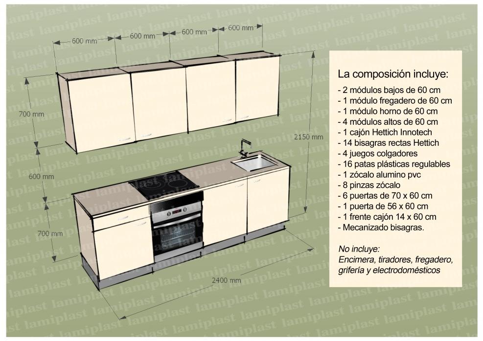 Modulos cocina medidas dise os arquitect nicos for Modulos de cocina baratos