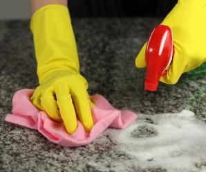 Cómo limpiar una encimera según su material