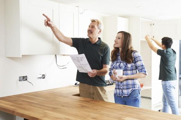 Familia para decorar la cocina