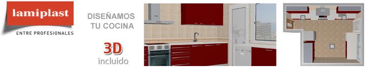 Presupuesto dise o de cocina en 3d lamiplast - Lamiplast cocinas ...
